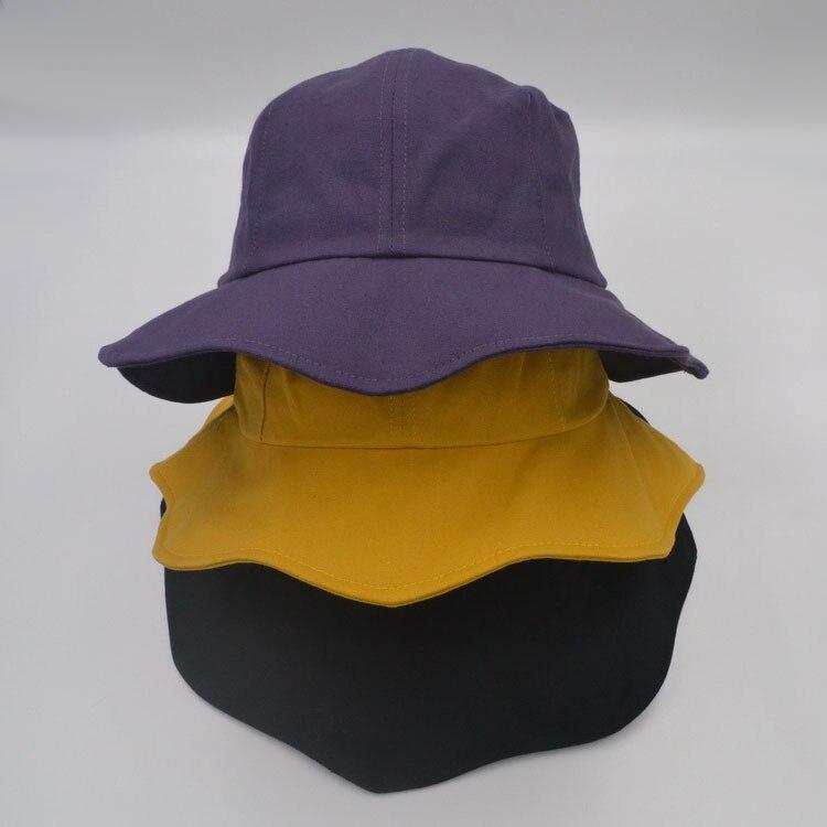 2018 plano sólido Chic cubo sombrero con Bowknot mujeres Vintage calle pescador Panamá sombreros de sol sombrero al aire libre C