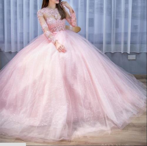 Rosa Quinceanera vestido Novo vestido de Baile Quinceanera Vestidos de 15 anos Doce 16 vestidos Baratos quinceanera vestidos debutante vestido