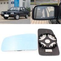 Para volkswagen santana 2004-2007 vista lateral espelho da porta de vidro azul com base aquecida 1 par