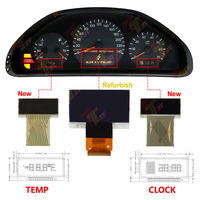 VDO instrument Middle+right+left display FOR Mercedes Benz W210 E320 E430 1996~2002