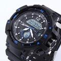 2016 Digital de Cuarzo Hombre Deportes Relojes de Cuarzo-Reloj Hombre Dual Time Hombres S Choque Reloj Hombre Militar Del Ejército LED Relojes de Pulsera