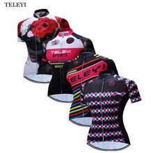 TELEYI Women Cycling Jersey Bicycle Ropa Ciclismo Girls Breathable Top Outdoor Sports Bike Clothing T shirts Cycle Gear XS-4XL