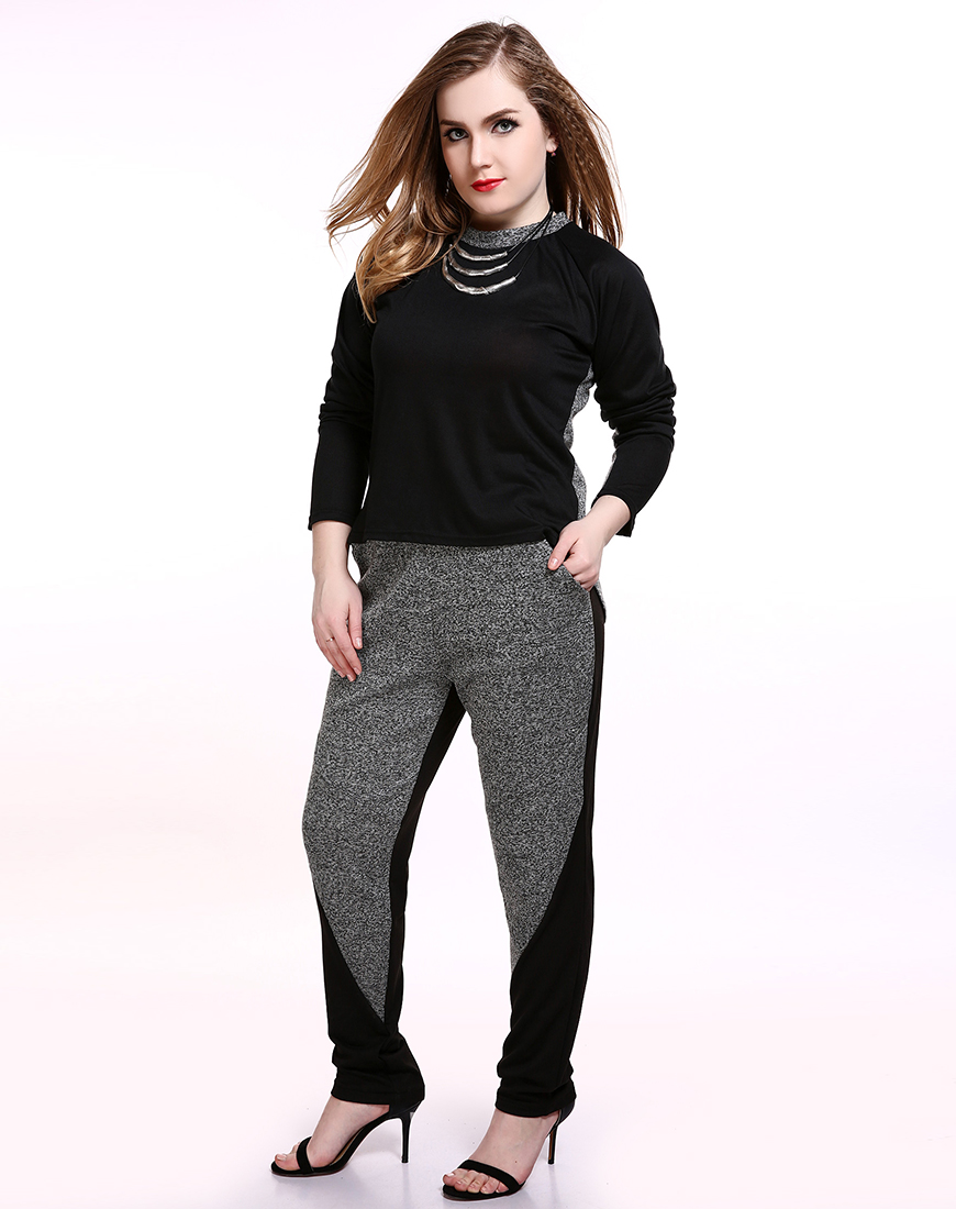 84625533f71bc Cute Ann Women s Plus Size Casual Pants Gray And White Full Length Pencil  Pants Trousers With Sashes Summer Sping WearUSD 21.90 piece ...