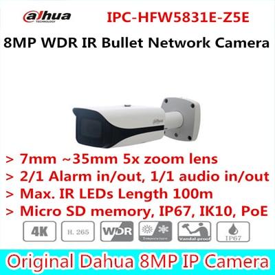 Dahua New Arriving cameras 8MP WDR IR Bullet Network Camera Without Logo IPC-HFW5831E-Z5E free DHL shipping free shipping dahua cctv camera 4k 8mp wdr ir mini bullet network camera ip67 with poe without logo ipc hfw4831e se