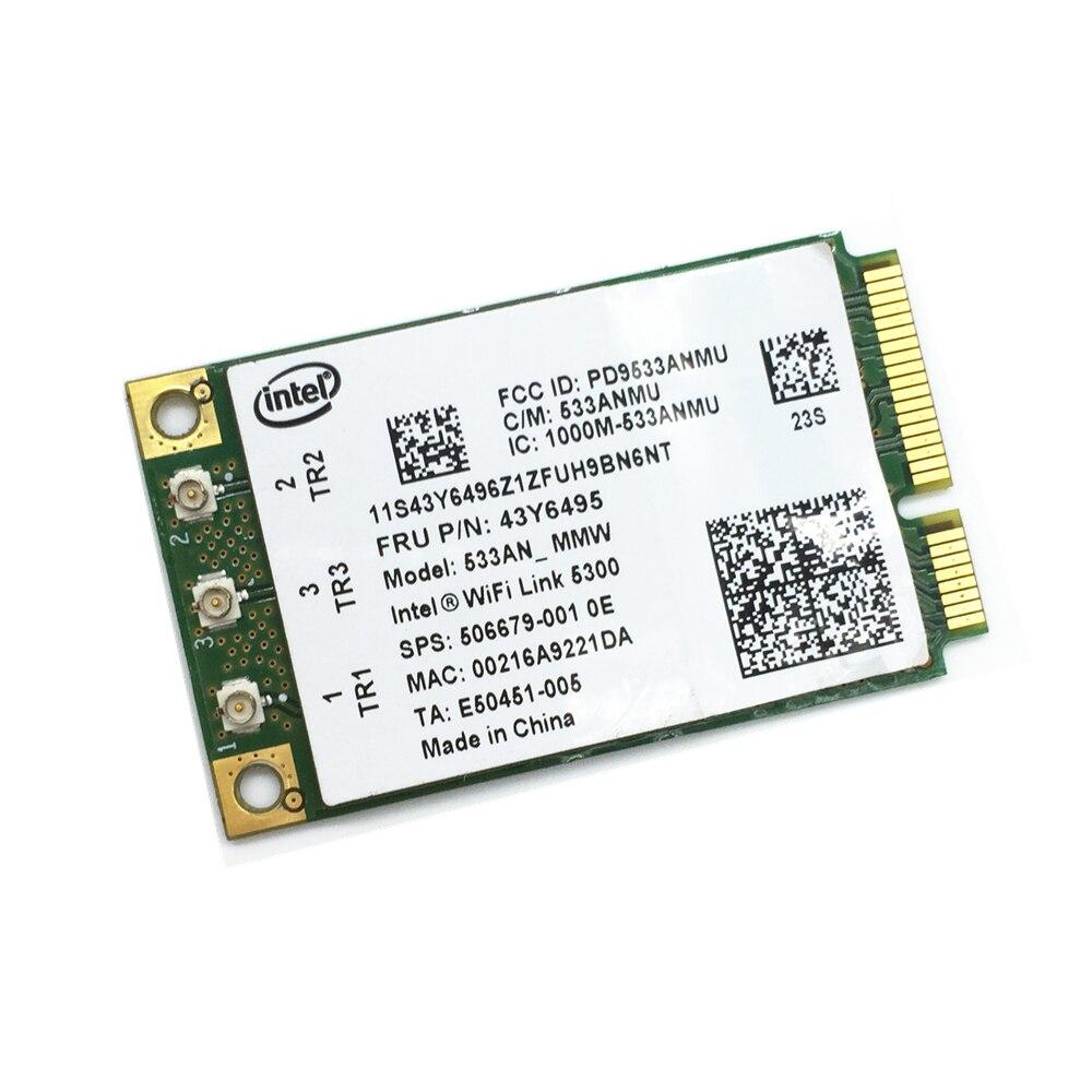 Pour WiFi Lien Intel 5300 AGN 533AN_MMW Mini PCI-E Carte Sans Fil 802.11a/b/g/n 2.4/5.0 GHz 450 Mbps pour X200 X200S X300