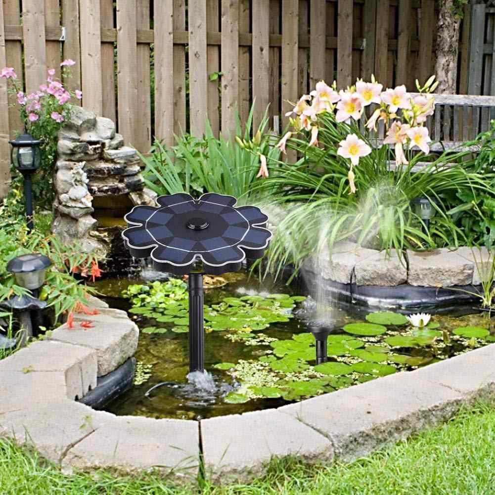 1.6 W/2.5 W Zonnepaneel Waterdicht Solar Fontein met Bloem-vorm Waterpomp Outdoor Vijver Decorating gieter Fontein
