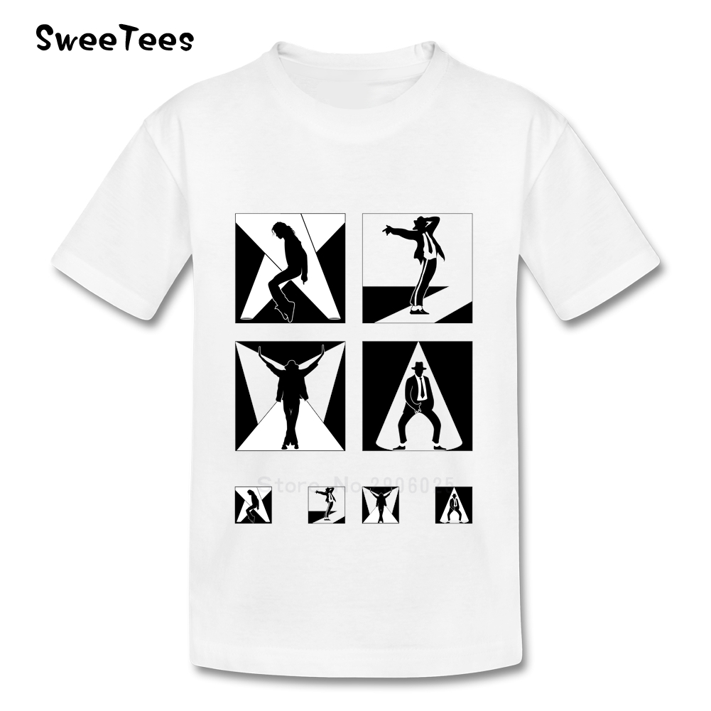 Black t shirt michaels - Michael Jackson Children S T Shirt Cotton Crew Neck Short Sleeve Tshirt Tee Shirt Boy Girl 2017
