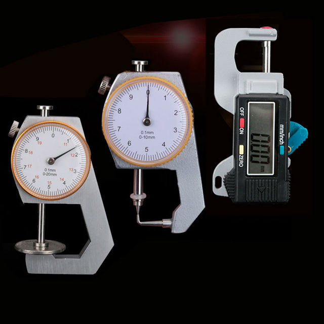 Dental Lab Product precision 0-10*0.1mm /0-20*0.1mm Caliper With Watch Measuring of Metal Watch Showing Thickness Gauge