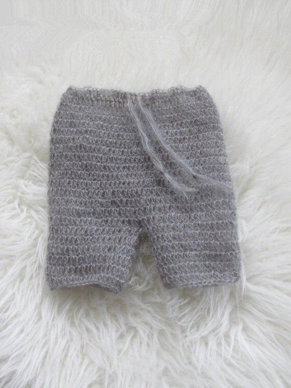 Photography Props Crochet / Knitting mohair մանկական կարճ - Հագուստ նորածինների համար - Լուսանկար 2