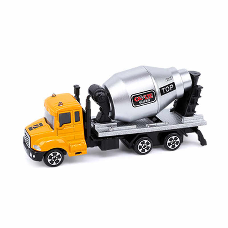 Hot Alloy Inertia Car Vehicle Toys Diecast Rescue E Car Tanker Truck Excavators Collection Model Toy Cars For Boys Children Gift