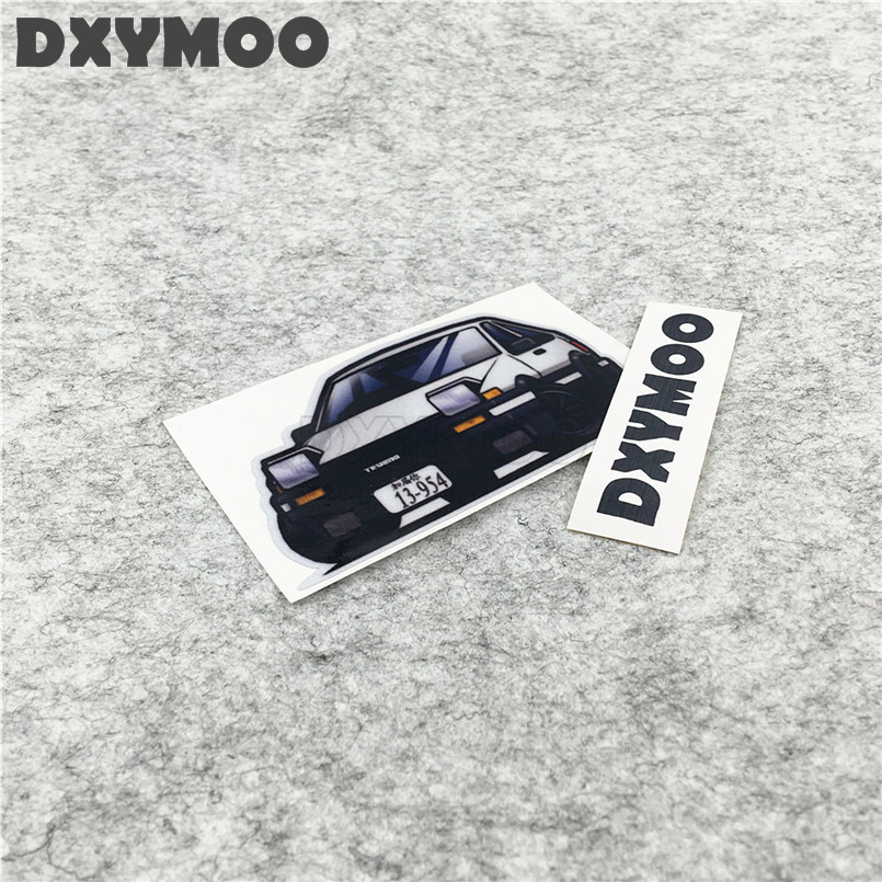 Car Styling AE86 JDM Japanese Drift Car Stickers Motorcycle Bike Decals 10x6cm car styling japanese anime stickers