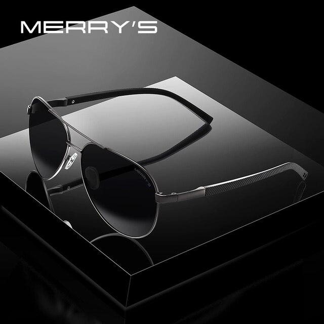 MERRYS дизайн мужские классические солнцезащитные очки Пилот HD поляризованные солнцезащитные очки для вождения TR90 ноги UV400 защита S8190