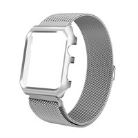 GOOSUU Milanese Loop Strap Stainless Steel band For Apple Watch band 42 mm/38 wristband Link Bracelet for iwatch 1 2 with case