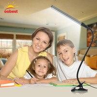 Aluminum LED Flexible Desk Lamp USB Table Desk Clip Reading Light Clip On Bed Table For