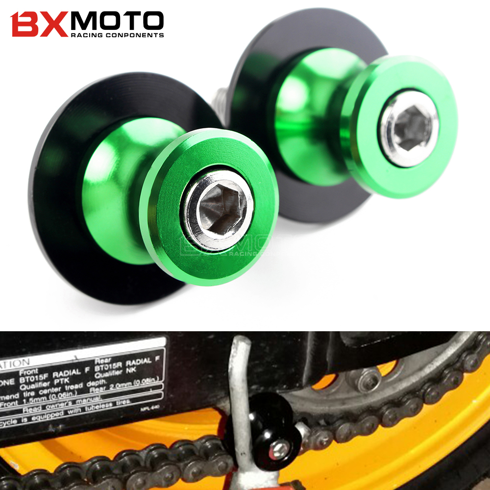 Motorcycle CNC Aluminum Swingarm Spools slider stand Screws accessories part For kawasaki ER6N ER6F VERSYS 650 1000 W800 ER4N motorcycle accessories cnc aluminum black swingarm spools slider stand screws for ktm 950 smr supermoto r 2008 orange 950 sm s