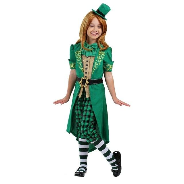 Ragazze Chaming Mischief Creature Mitiche Irlandese Leprechaun Bambini  Giorno di san Patrizio Costume 6c92f307916