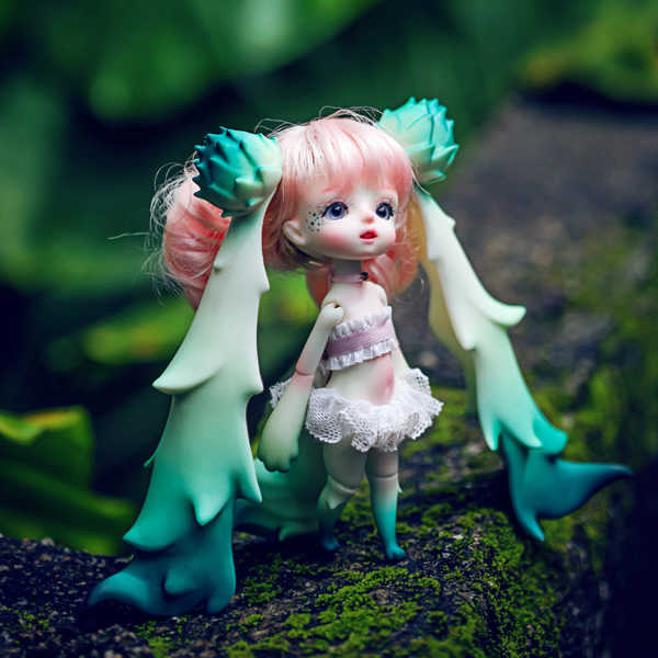 niuniu DZ 1/8 BJD Doll BJD/SD Fashion LOVELY model Resin Joint Doll For Baby Girl Birthday Gift random eyes
