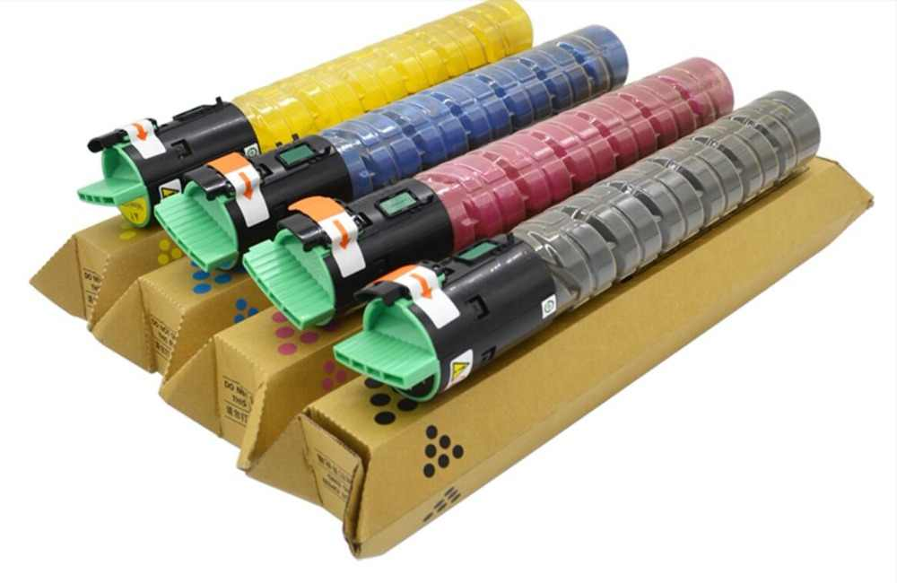 4 قطعة جديد متوافق اللون تصوير الحبر خرطوشة حبر لماكينة Ricoh MPC2550/MPC2010/MPC2030/MPC2050/MPC2530/MPC 2050 الحبر عدة kcmy