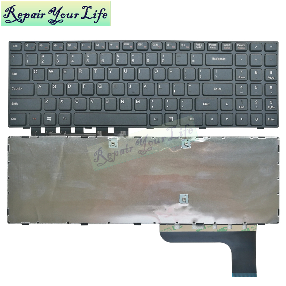 Repair You Life Laptop keyboard For <font><b>Lenovo</b></font> for Ideapad 100-15IBY <font><b>B50</b></font>-<font><b>10</b></font> US layout with frame image