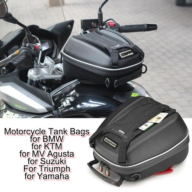Motorcycle Oil Fuel Tank Bags Pockets Mobile Phone Navigation Bag Fast Unpacking for BMW KAWASAKI HONDA SUZUKI YAMAHA DUCATI