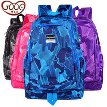 New fashion vertical section large capacity backpack Oxford cloth casual Korean light middle school bag(China)