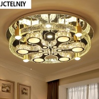New luxury circle bubble column crystal lamp modern brief led ceiling light lamps Can be customized