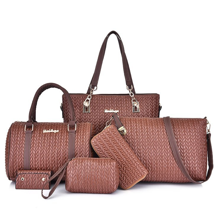 Women's Handbag Ladies Fashion Should Bags Large Capacity PU Leather Messenger Bag A Whole Set OLIVES 2019 New Bolsa Feminina