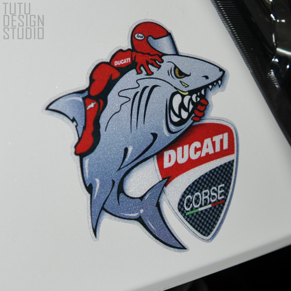 Tds Car Stickers For Ducati Shark Shield Reflective Stickers Car