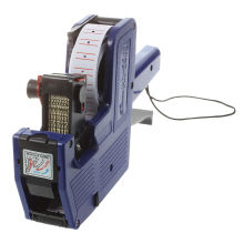 Blue 8 Digits Hand Price Labeller Tag Gun Plastic