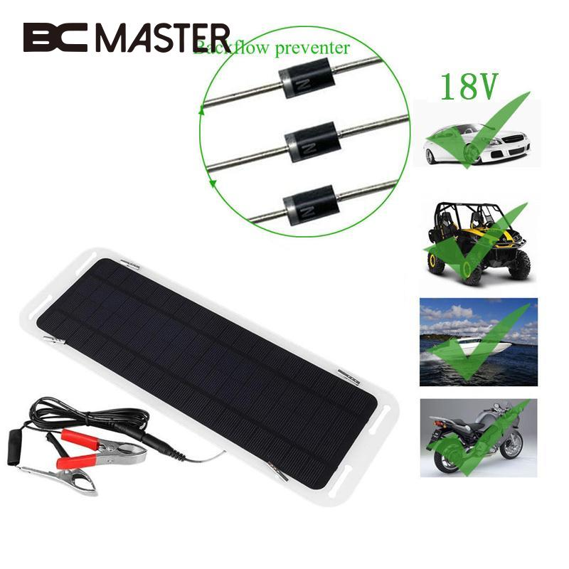 Computer & Office Good Amzdeal 18v 5w Solar Panel Bank Portable Car Boat Automobile Solar Powered Charging Panel Battery Backup Charger