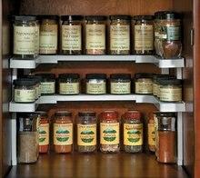 Upgrade Kitchen Storage Seasoning Shelves Stackable Organizer Spice Sauce Shelf Closet Bathroom Cupboard Cabinet Tools