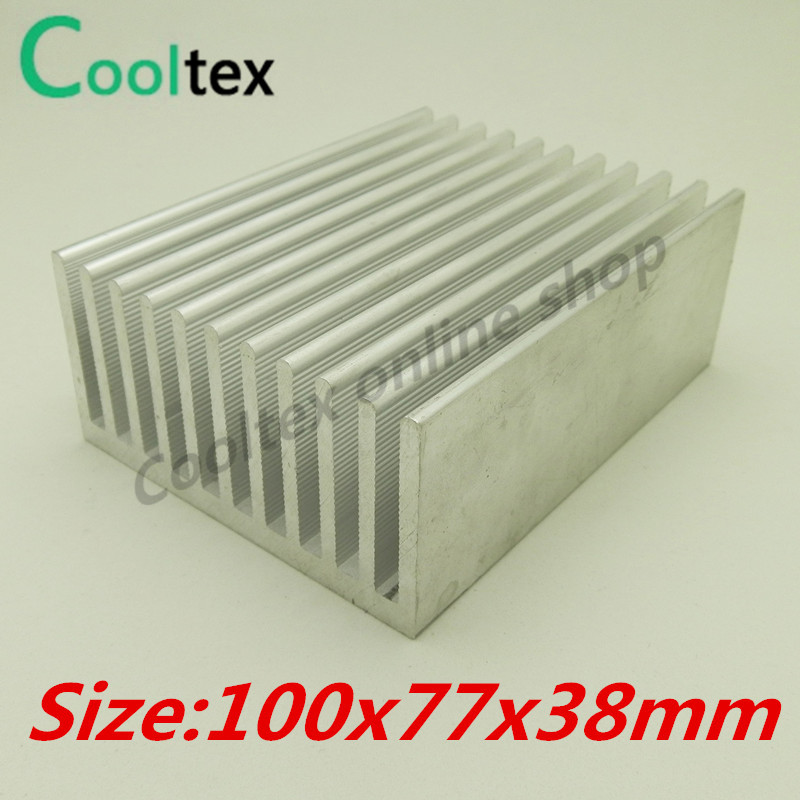 100x77x38mm Aluminum Heatsink Heat Sink Radiator For Diy Electronic Computer Chip Ram Gpu Led Cooler Cooling 50pcs lot aluminum heatsink 8 8x8 8x5mm electronic chip cooling radiator cooler for cpu ram gpu a4988 chipset heat sink