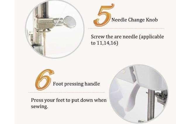 Máquina de costura sartório Roupas ajuste da Velocidade de Máquinas de processamento de eletrodomésticos Máquina de Costura Plana - 2