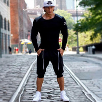 Summer Leisure Casual Elastic Shorts Men Trousers Elastic Brand Men Shorts Mens Fashion Fitness Outer Wear