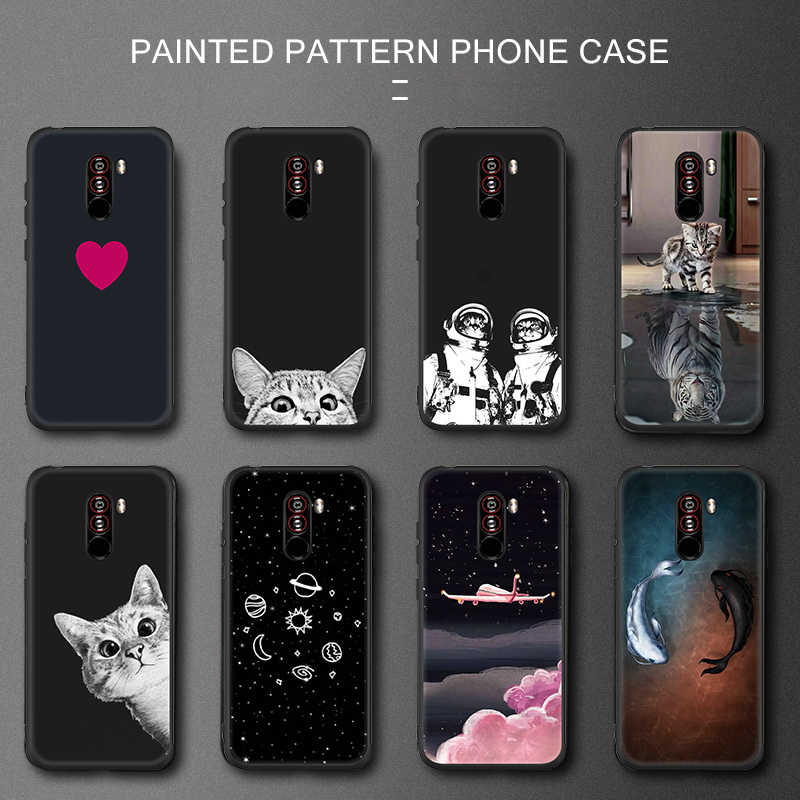 Case For Xiaomi Mi 8 SE A1 A2 Mi 5X 6X Fundas Silicone Cat Soft TPU Cover Coque Redmi 6 Pro 6A 5 Plus Note 5 Pro 5A Pocophone F1