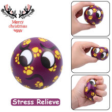 Lovely Christmas Present Mouth Emotion Ball Elasticity Rising Kids Squeeze Toys(China)
