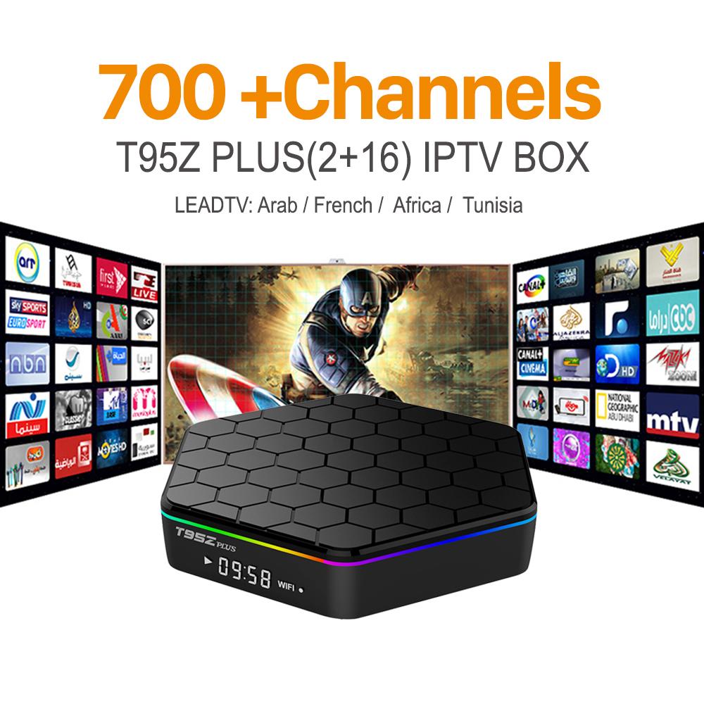 ФОТО T95Zplus Android 6.0 Smart TV Box Amlogic S912 2G 16G with Free IPTV European Arabic French Italy Channels Iptv Set Top Box