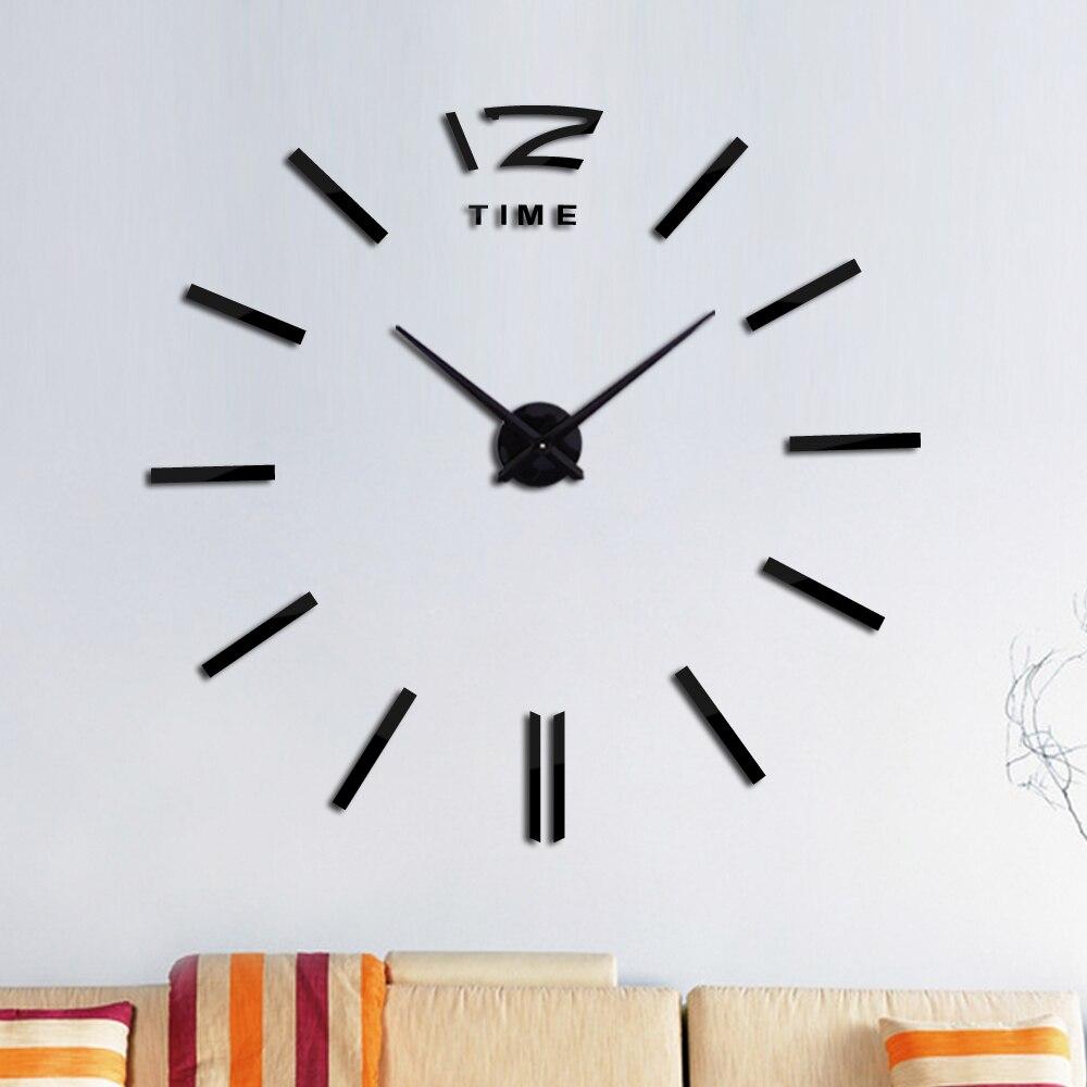 Horloge murale miroir acrylique 3d | Grande Horloge à Quartz, décoration de maison, Horloge circulaire de salon, diy bricolage, nouveau
