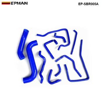 Balap Silikon Intercooler Turbo Radiator Heater Hose Kit untuk Subaru Impreza WRX STI GDB, EJ20 00-07 (11 PCS) EP-SBR005A