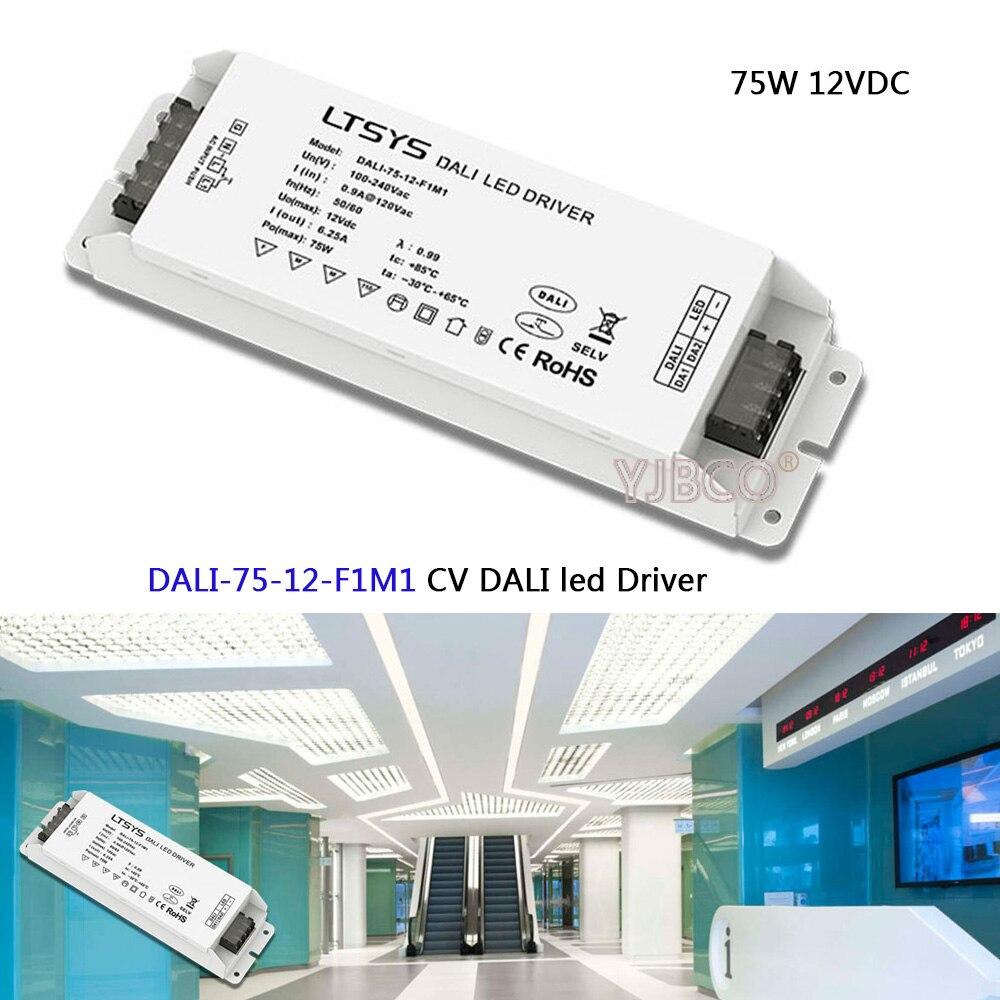 цены на LTECH CV DALI Dimming Driver DALI-75-12-F1M1;AC100-240V input;12V/6.2A/72W output DALI/PUSH DIM led power в интернет-магазинах