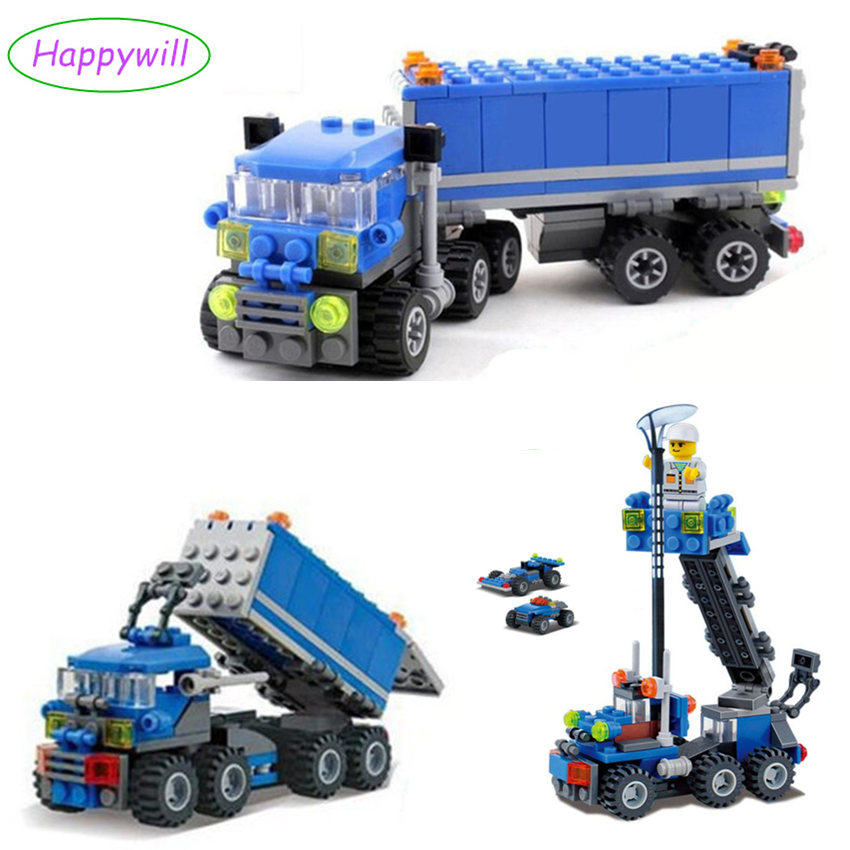 163PCS Happywill 6409 Truck Building Blocks baby Toys For children Birthday Gift brinquedos building bricks toys for children kazi 6409 163 pcs truck building blocks city car bricks educational building toys for kids birthday gift