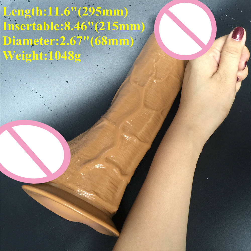 11.6 inch D: 6.8 cm Big Dildo Super huge Thick Dildos Sturdy Suction Cup realistic Penis Dick for Women Horse Dildo sex toy 31cm extreme big realistic dildo super thick huge big dildo sturdy suction cup penis dick dong for women sex toys sex product