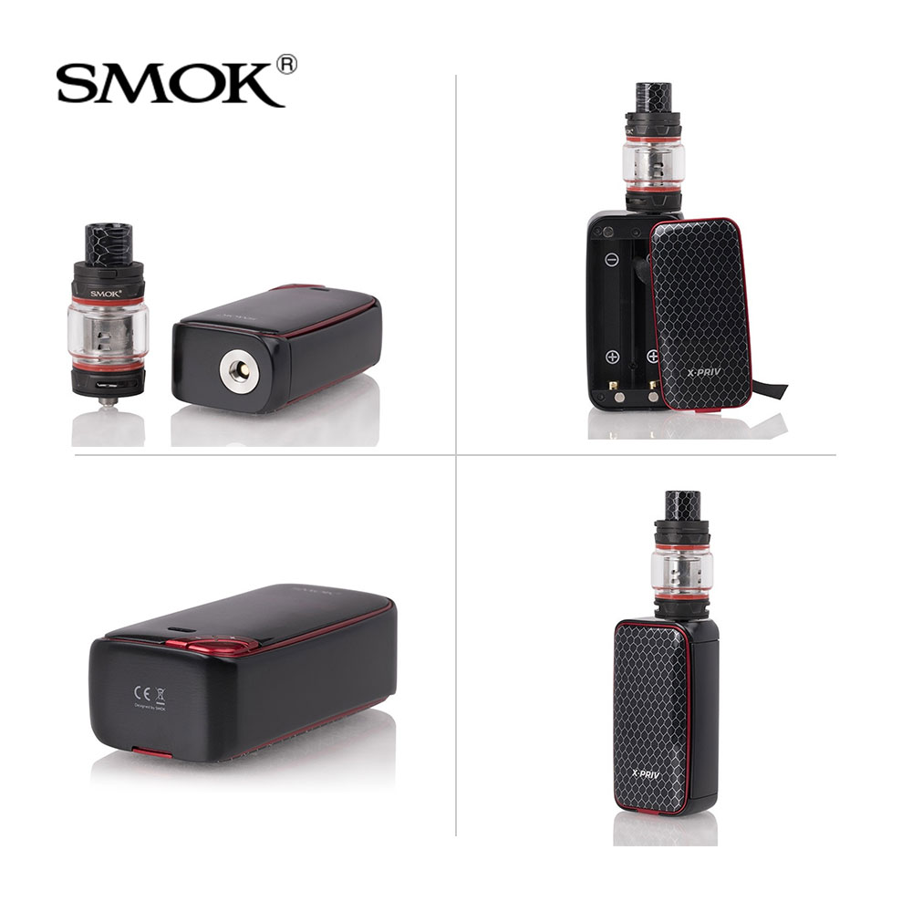 Original SMOK X-Priv Kit 225W with TFV12 Prince Tank 8ml +Q4/T10 Coils For Electronic Cigarette x priv vape kit VS G-PRIV 2/MAG