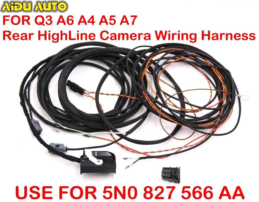 Сзади Highline Камера Жгуты проводки для Audi Q3 8u0 A6 4g0 A5 S5 8f 8 т F3 A8 4h0 A4 8k0 q5 8r0 A7 4g0