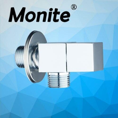 Bathroom Accessory Chrome Wall Mounted 1/2*1/2 Square 6201 Bathtub Sink Angle Valves