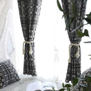Image 5 - Creative מודרני גיאומטרי הדפסת Blackout וילון לשינה בסלון בית תפאורה הצללת חלון טיפול וילון עיוור קורטינה