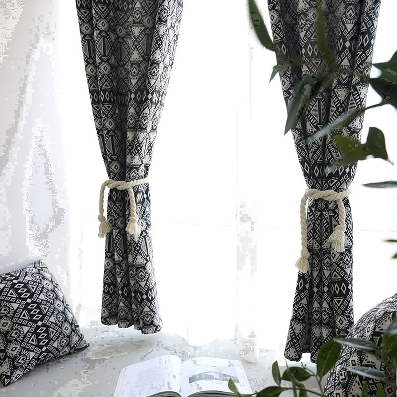 Image 5 - Creative Modern Geometric Print Blackout Curtain for Livingroom Bedroom Home Decor Shading Window Treatment Drape Blind Cortina-in Curtains from Home & Garden