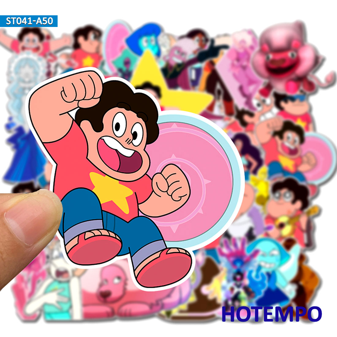 50pcs Animation Cartoon TV Steven Universe Stickers for Children Mobile Phone Laptop Guitar Skateboard Bike Stickers in Stickers from Toys Hobbies