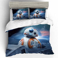 Dropshipping Home Bedding Set Star Wars BB 8 Robot Print 3D Bedding Sets Duvet Cover Cotton Pillowcase Home Textile Bedclothes