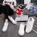 Простой стиль Женщины Холст Обувь Весна Осень Женщины Туфли На Платформе Женщины Ботинки HSE22